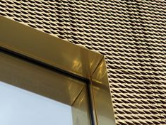 Metal sheet and panel for roof / Metal sheet and panel for facade TECU® Gold By KME Architectural Solutions Metal Facade, Metal Cladding, Metal Panels, Metal Roof, Building Skin, Building Facade, Expanded Metal Mesh, Fibreglass Roof, Perforated Metal