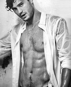 'Jamie Dornan Shirtless' Poster by badefo Christian Grey, Jamie Dornan, Pretty Men, Gorgeous Men, Black And White People, Hot White Guys, Mr Grey, Hommes Sexy, Shirtless Men