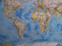 Southern Hemisphere World Map • mappery