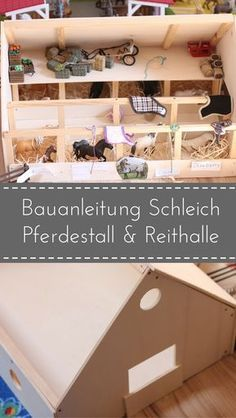 DIY We are building a Schleich horse stable + riding hall – Baby Ideas Schleich Horses Stable, Horse Stables, Interior Styling, Interior Decorating, Design Your Own Home, Parents Room, Study Nook, Wood Display, Inside Design
