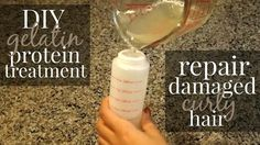 DIY GELATIN PROTEIN TREATMENT FOR DAMAGED HAIR experiencing a lot of breakage lately or are trying to recover from heat damage, looking to repair your curls, improve your hair health or rebuild elasticity, this recipe is for you.
