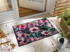 STUDIO 67 | Hochwertige Matten und Teppiche online kaufen wash+dry | Design Purpurea Picnic Blanket, Outdoor Blanket, Terrace Garden, Rugs, Studio, Design, Home Decor, Products, Flowers