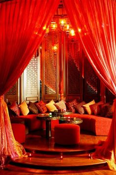 Must designate a room in my house for my bohemian opium den. Imagine coming home to this after a long day of work! Moroccan Decor, Moroccan Style, Moroccan Bedroom, Modern Moroccan, Opium Den, Diy Curtains, Luxury Curtains, Short Curtains, Elegant Curtains