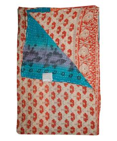 Love this Singing in Tones of Red Handmade Kantha Throw on #zulily! #zulilyfinds