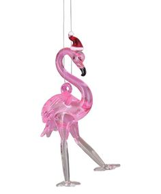 flamingo santa hat ornament zulily zulilyfinds