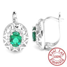 Fashion 2.5ct Nano Russian Emerald Clip Earring Only $29.99 => Save up to 60% and Free Shipping => Order Now! #Bracelets #Mystic Topaz #Earrings #Clip Earrings #Emerald #Necklaces #Rings #Stud Earrings