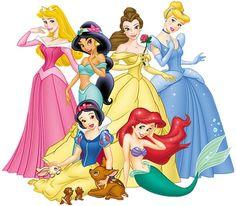 Sonhando com cores: Princesas Disney