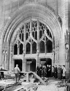 Liverpool Anglican Catherdral being built Liverpool Cathedral, Liverpool Town, Liverpool History, Liverpool England, Barcelona Cathedral, Anglican Cathedral, Cathedral Church, Salford, Modern Metropolis