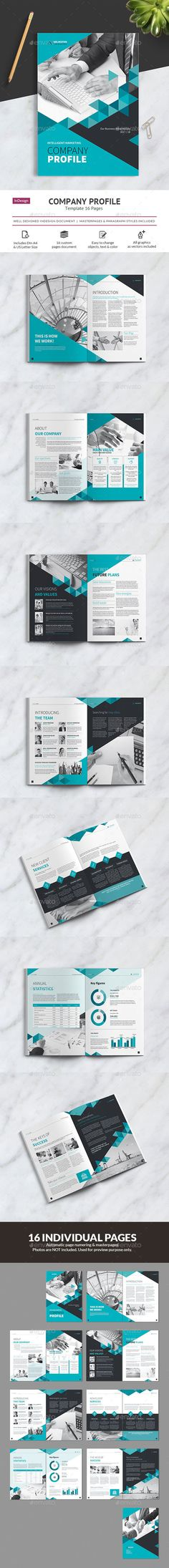 Company Profile Vol.2 — InDesign INDD #template #letter • Available here → https://graphicriver.net/item/company-profile-vol2/19570819?ref=pxcr