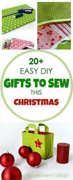 diy Christmas gifts: check out easy sewing tutorials and patterns for Christmas. Many include free sewing patterns. Perfect beginner sewing tutorials with free patterns for making great Christmas gifts for friends and the entire family. Check them out! Easy Diy Christmas Gifts, Easy Diy Gifts, Christmas Gifts For Friends, Christmas Sewing, Gifts For Family, Gifts For Kids, Christmas Ideas, Christmas Christmas, Christmas Presents