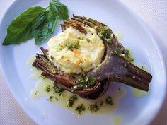 PROUD ITALIAN COOK: Ricotta Stuffed Artichokes with Lemon Herb Oil