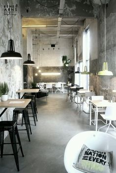Selection of luxury bar designs to inspire you for your next interior design project ! Interior design trends to help to decor your bar! Industrial Cafe, Industrial Interior Design, Industrial Interiors, Restaurant Interior Design, Design Hotel, Industrial Style, Vintage Industrial, Cafe Interiors, White Industrial
