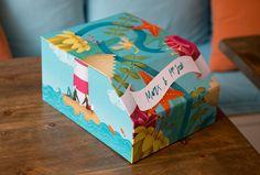 Una caja marinera para las fotos de boda