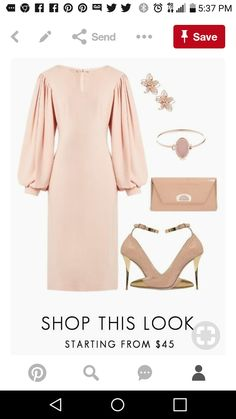 Fashion Sets, Pink Fashion, Fashion Outfits, Womens Fashion, Work Outfits, Dress Outfits, Off White Fashion, Church Dresses, Soft Classic