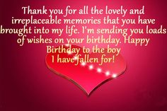 Happy Birthday Wishes For Boyfriend Fiance Quotes Him