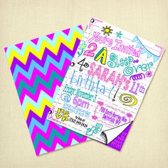 Sleepovers are the BEST! Love this invite which really captures the essence of those fun nights! Printable Tween Sleepover Invitation Birthday by ARTiculatePRINTS, $12.00 #tweenbirthday #sleepoverinvitation #ARTiculatePRINTS