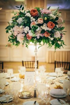 Featured Photographer: Docuvitae Photography; Wedding reception centerpiece idea.