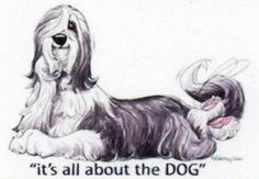 Beaded-Collie-Its-all-about-the-DOG-Sign-by-Mike-McCartney