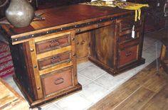 Ranchero Leather Desk Backside