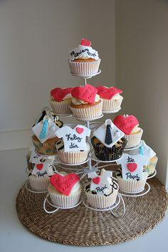 cupcake dia del padre fondant - Buscar con Google