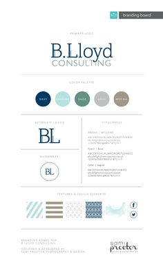 Beach Nautical Branding Board for B. Lloyd Consulting by Sami Proctor Photography & Design