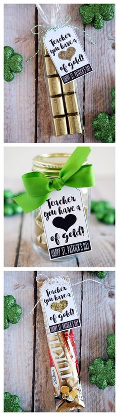 Teacher You Have A Heart Of Gold What a cute St. Patrick's Day or Teacher appreciation gift.