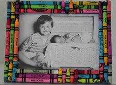 Crayon DIY Picture Frame- great homemade gift idea for just about any holiday!