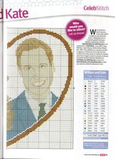 sandylandya@outlook.es William & Kate Cross Stitch Chart