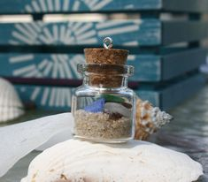 Sea Glass and Sand in a Bottle from the Jersey by BeachwritingsNJ, $8.50