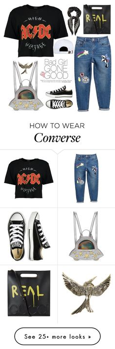 """Bad Girl Gone Good"" by sellyankumala on Polyvore featuring Boohoo, Yves Saint Laurent, Charlotte Olympia, Gucci, Converse and Joyrich"