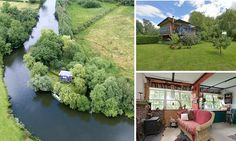 River Avon private island that you can only view by boat on sale for £190k