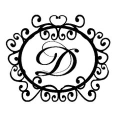 D is for monogram Donna