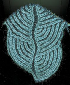 Hosta Brioche Scarf by Nancy Marchant #knit