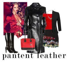 """Vixen in patent leather"" by ymlb on Polyvore featuring Charlotte Tilbury, Miu Miu, MSGM, Yves Saint Laurent, Posh Girl, Banana Republic, Doublju and Pia Sassi"