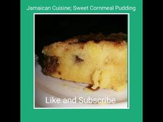 This is my first time making Cornmeal Pudding . It is one of Jamaican's favourite desserts. Jamaican Desserts, Jamaican Cuisine, Jamaican Recipes, Cornmeal Pudding, Creole Kitchen, Make It Yourself, Sweet, Youtube, Food