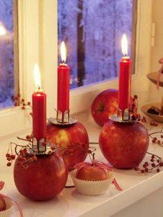Apfelkerzen, tolle Alternativen zu den Klausenbäumen.