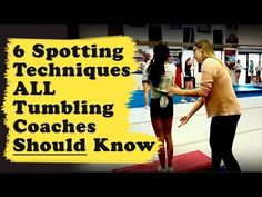 Spotting a tumbling skill is more than just throwing kids over. Here are 6 of the most useful spotting techniques I use (and teach other coaches) Gymnastics Warm Ups, Gymnastics Levels, Tumbling Gymnastics, Gymnastics Skills, Gymnastics Equipment, Gymnastics Coaching, Gymnastics Training, Cheer Warm Ups, Tumbling Tips