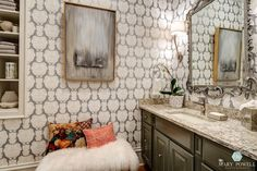 Wallpaper Inspired Rooms {from the 2015 Atlanta Symphony Showhouse and Gardens} - Rooms Revamped Interior Design