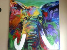 Abstract Elephant painting on Etsy, $25.00 | alabama football ...