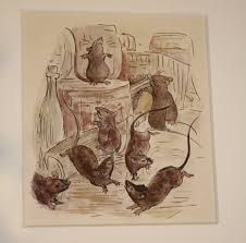 The rats celebrate Christmas in 'The Tailor of Gloucester' - disgraceful! but charming.