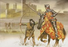 Owain Glyndwr and his Welsh followers are attacked by the English at Caernarvon castle, Hundred Years War