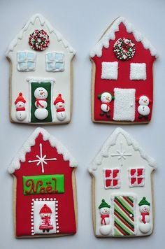 Tall Christmas Cottage Cookies - Sablés Maisonnettes de No…   Flickr
