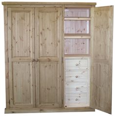 Viking Triple All Hanging Wardrobe Fitted  Antique Wax