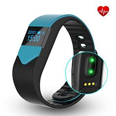 EIISON Fitness Tracker with Heart Rate monitor Activity Watch Step Walking Sleep Counter Wireless Wristband Pedometer Exercise Tracking Sweatproof Sports Bracelet for Android and iOS Blue * Details can be found by clicking on the image. Most Accurate Fitness Tracker, Fitness Tracker Reviews, Best Fitness Tracker Watch, Waterproof Fitness Tracker, Best Resistance Bands, Running Watch, Track Workout, Electronics Gadgets, No Equipment Workout