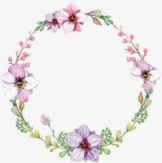 Coroa de Flores aquarela Livre PNG e Vetor
