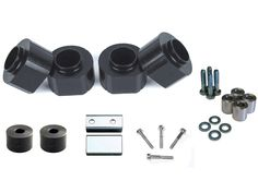 Jeep Grand Cherokee ZJ 93-98 Front and Rear 2 Inch Black Polyurethane Spacer Kit with Bumpstops and Transfer Case Drop Kit