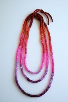 Laura's Loop: I-Cord Necklaces by the purl bee, via Flickr Aran weight