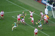 Tyrone v Kerry in the 2005 All-Ireland Senior Football Championship Final World Football, Men's Football, Rugby, Working Holidays, Most Popular Sports, National Symbols, Mouth Guard, Irish Traditions, Sports