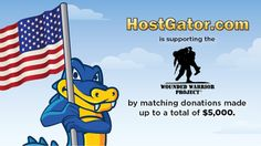 HostGator Will Match Your Donation to Wounded Warrior Project - Today is the last day of Wounded Warrior Project Donation Match.  HostGator is very close to hitting their goal of 5,000 donated and will match up to that amount in total.  Thank you for helping out and please pass it on and share it with your network.