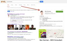 Ben Norman Google+ Profile In Search Results